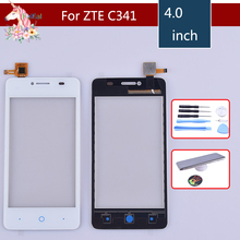 10pcs TouchScreen For ZTE Blade C341 Touch Screen Front panel Digitizer Glass Panel Sensor for ZTE C341 Digitizer replacement touchscreen digitizer glass panel for canon imagerunner ir 105 copier control touch screen panel