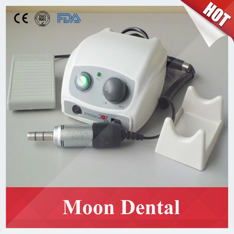 Dental Lab Micromotor 35000 RPM Strong 207B+108E Electric Micromotor for Denture/Jade/Nail/Jewelry Polishing and Carving