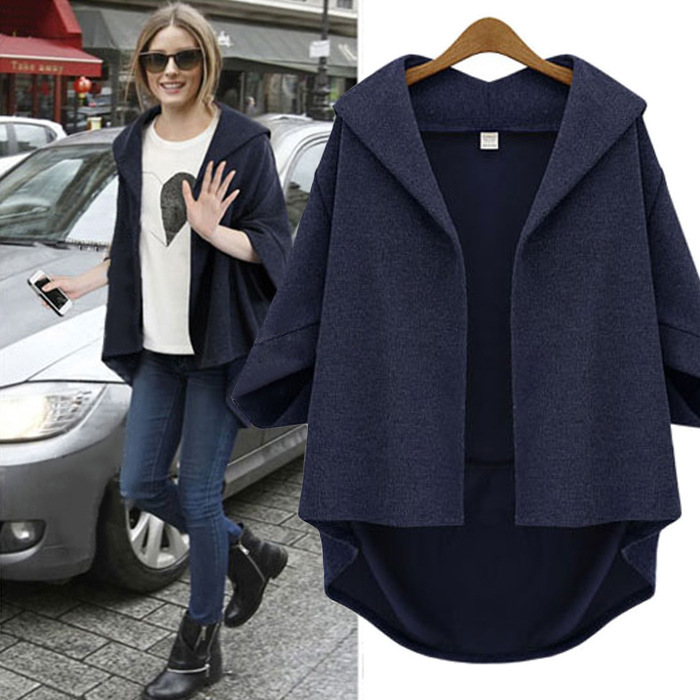 Popular Navy Wool Coat Women-Buy Cheap Navy Wool Coat Women lots ...