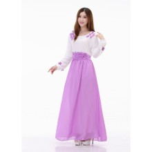 2016 Women Long Sleeve Islamic Kaftan Abaya Muslim Cocktail Maxi Long Dress Y08