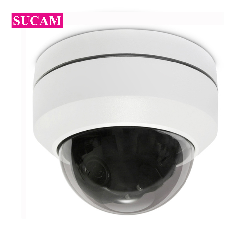 SUCAM Mini Pan Tilt Motorized 4X Zoom 2MP 4MP PTZ IP Camera Indoor High Resolution Security