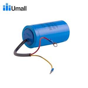 Image 4 - CD60 300uF 300V AC kondensator rozruchowy do ciężkich sprężarek elektrycznych powietrze silnikowe czerwony żółty dwa przewody