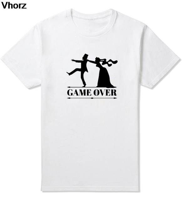 2f1330b4 Marry Game Over Bride Groom Bachelor Bachelorette Party T Shirt Husband  Wife Marriage Ball And Chain Funny Wedding Gift Tshirt