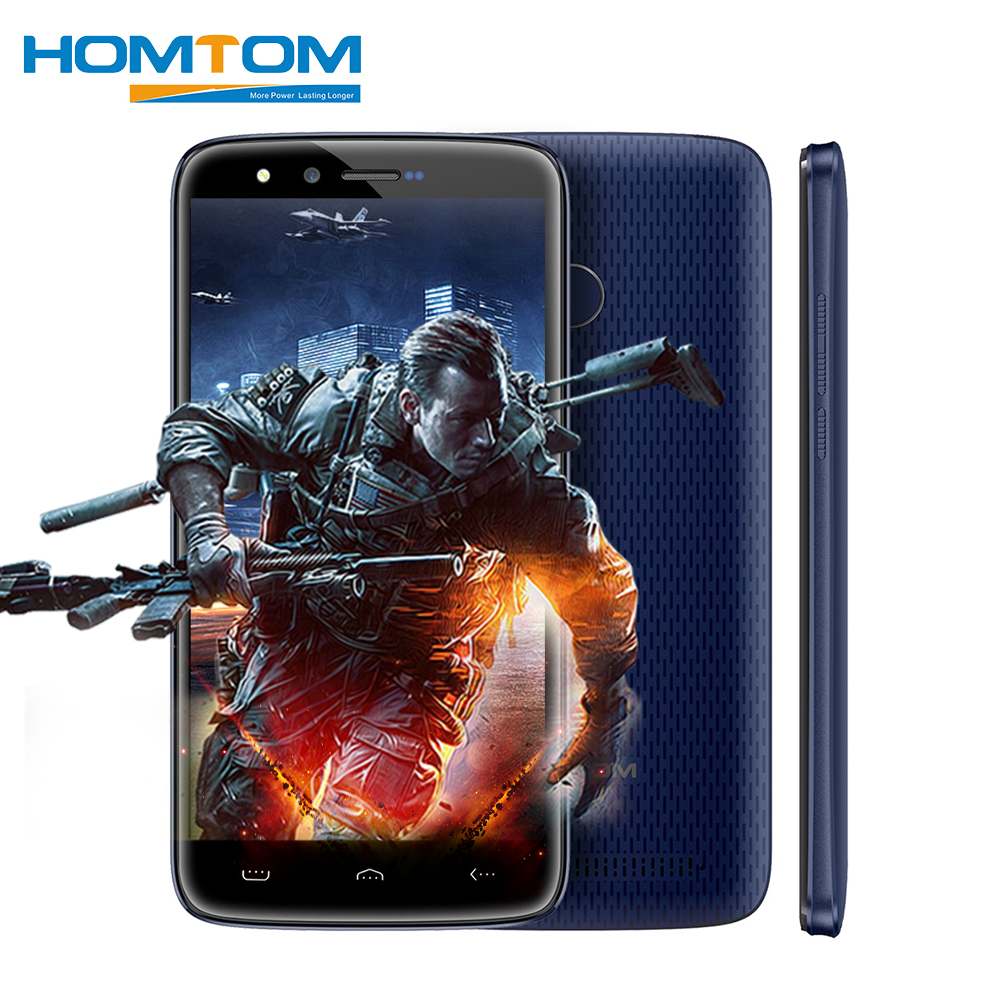HOMTOM HT50 4G Android 7.0 MTK6737 Quad Core Smartphone 5.5 Inch 3GB RAM 32GB ROM 8MP+8MP Dual Cameras 5500mAh Mobile Phones