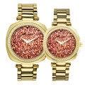 Мужские часы женские часы Япония Mov модные роскошные парные часы со стразами с кристаллами подарок на день рождения Melissa Box
