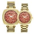 Herren Uhr frauen Uhr Japan Mov Mode Voll Strass Luxus Paar Uhr Kristall Lovers Uhr Geburtstag Geschenk Melissa box