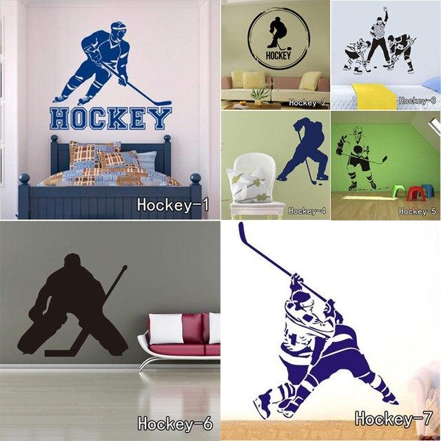 Life is Simple Eat Sleep Play Hockey Removable Vinyl Wall Decors Stickers Living Room Study Bedroom Instrument Art