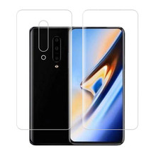 Clear Soft Hydrogel Film TPU Screen Protector +Back Cover For Oneplus 7 Pro