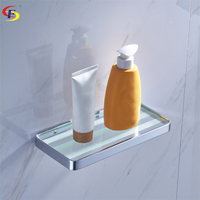 Anju Brass Wall Mounted Bathroom Accessories Set Glass Shelf Bathroom Shelf Wall Shelf Towel Shelves