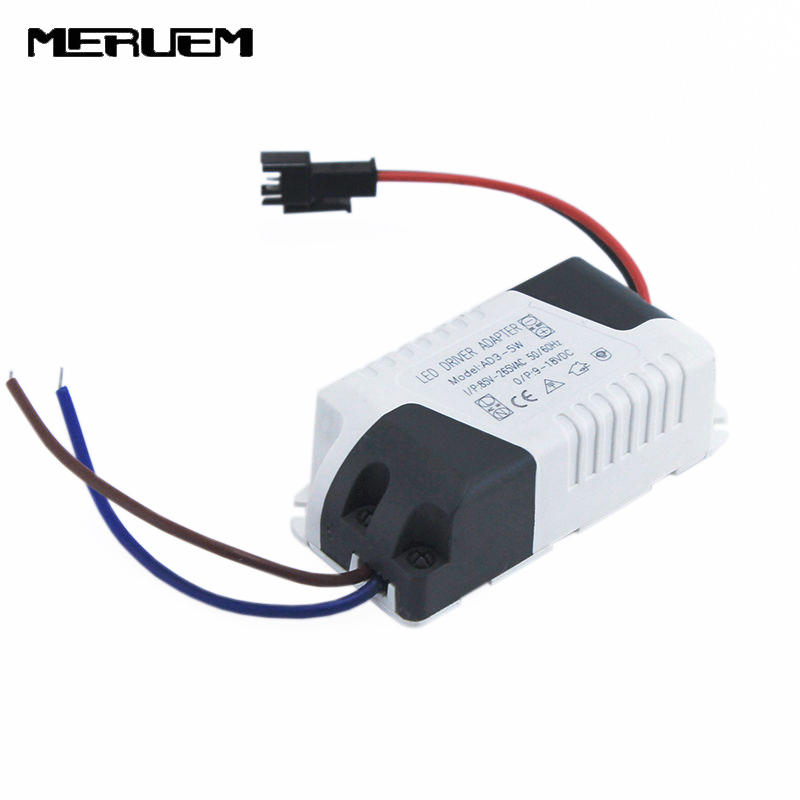 Free Shipping (3-5)x 1W 5x1W Led Driver 3W 4W 5W Lamp Driver Power Supply Lighting Transformer AC85-265V For LED Lights