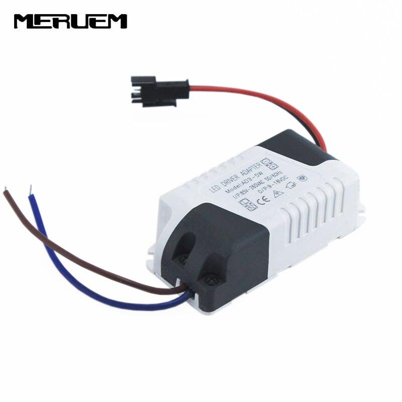 Free Shipping (3-5)x 1W 5x1W Led Driver 3W 4W 5W Lamp Driver Power Supply Lighting Transformer AC85-265V For LED Lights