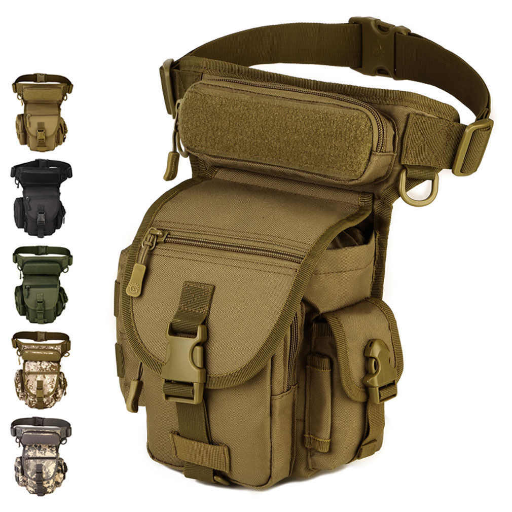 Sac de jambe tactique multifonctionnel extérieur sac de chasse SWAT sac de taille moto Sports Ride hommes 1000D CORDURA Pack
