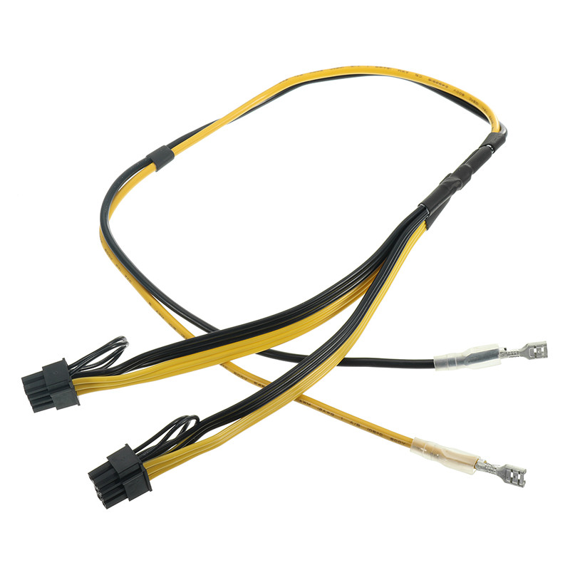 Graphics Video Card 8pin 6+2pin DIY Splitter Power Cable Cord Dual PCIe PCI-E Graphics Power Supply Line for Ethereum Rig Mining