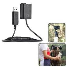 카메라 용 Andoer NP FW50 공급 장치 어댑터 더미 배터리 팩 DC 커플러 커넥터 Sony NEX 3/5/6/7 시리즈 용 스프링 케이블