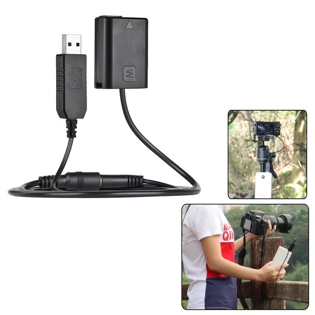 Andoer – adaptateur dalimentation NP FW50 pour caméras, batterie factice, connecteur de coupleur cc, câble à ressort pour Sony séries NEX 3/5/6/7
