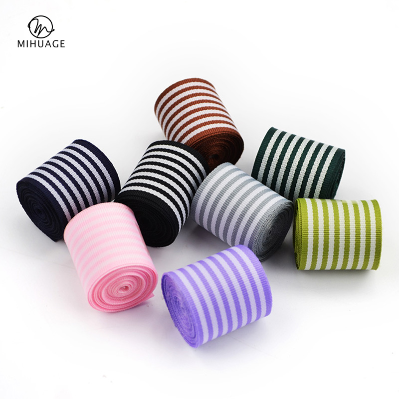 MiHuaGe 25Code Striped Packing Ribbon Holiday Gift Fashion Decorative Threaded High-Grade Flower Decoration Materials