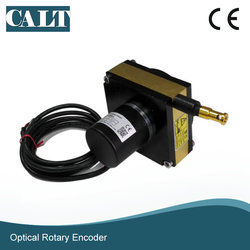 Tipo de saída analógico linear do sensor do deslocamento do codificador do potenciômetro da corda de medição da distância do comprimento da precisão 2000mm