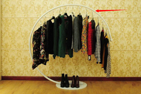 Одежда стеллажи дисплей полка сварочное железо вешалка для одежды, Повесить вешалка для одежды мужчины в женщины в одежда полки