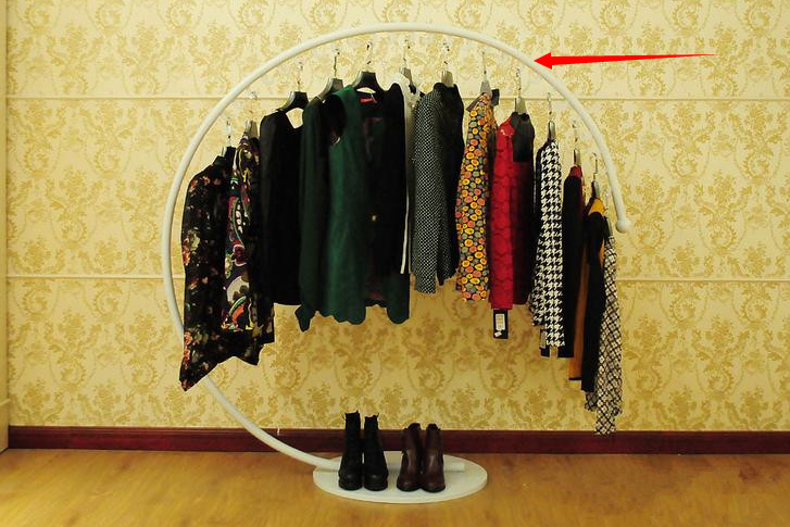 Clothing racks display shelf Wrought iron clothes rack, Hang clothes rack Men's wear women's clothing shelves
