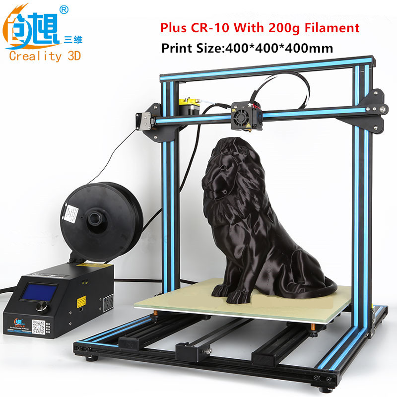 2017 Latest Various Optional 3D Printer Max Print Size300mm/400mm/500mm Creality CR-10 3D Printer With Filament Monitoring Alarm 3d max