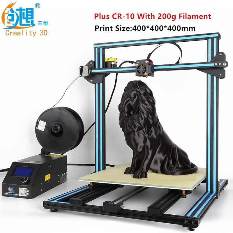 2017 Latest Various Optional 3D Printer Max Print Size300mm/400mm/500mm Creality CR-10 3D Printer With Filament Monitoring Alarm flsun 3d printer big pulley kossel 3d printer with one roll filament sd card fast shipping