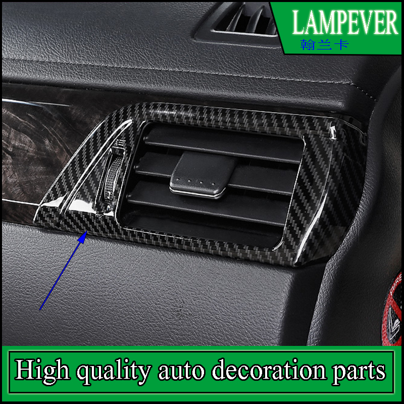 Car styling Instrument Table Dashboard Both Sides Vent Air Outlet Cover Trim For Toyota Camry 2012-2016 Not Fit Americas version