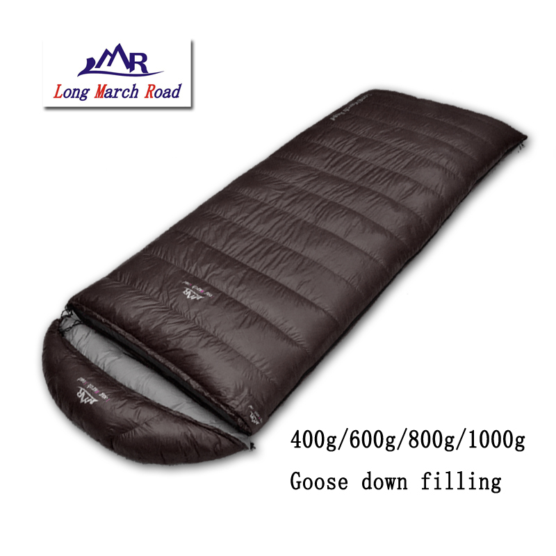LMR comfortable ultralight falling 400g/600g/800g/1000g goose down envelope camping sleeping bag аквариум на 600 1000 литров с рук