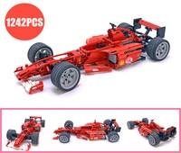 New Technic Racing Car 1:8 Formula F1 fit legoings technic car city Model building kit block Bricks toys car 8386 DIY kid gift