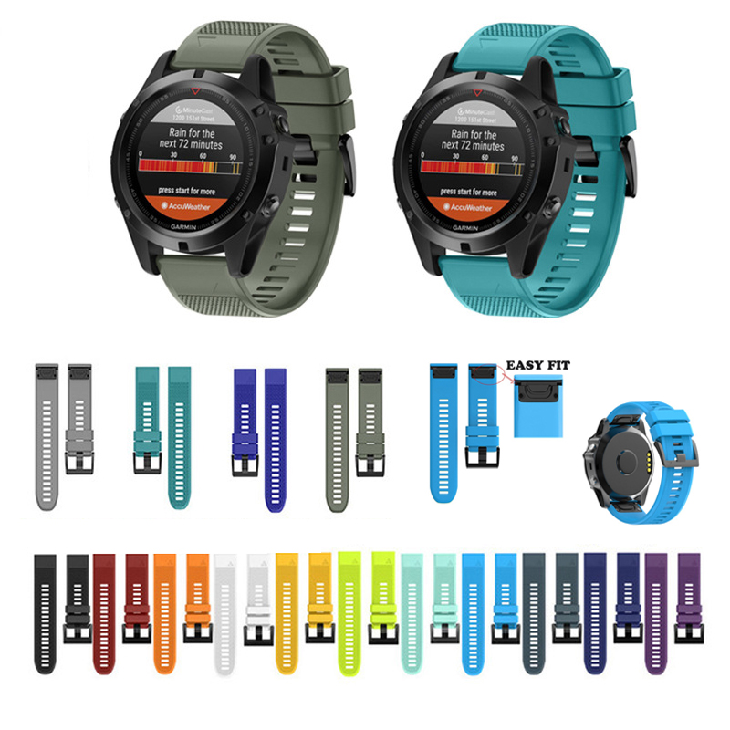 20 22 26MM Watchband Strap for Garmin Fenix 5X 5 5S 3HR Watch Strap Quick Release Silicone Band Strap For forerunner 935 Band