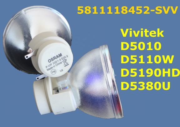 Replacement  Original Projector Lamp 5811118452-SVV 280W/330W projector lamp for Vivitek D5010, D5110W, D5190HD D5380U Projector free shipping 5811118452 svv original bare lamp for vivitek d5010 wnl d5110w wnl d5190hd wnl d5380u wnl 180 days warranty