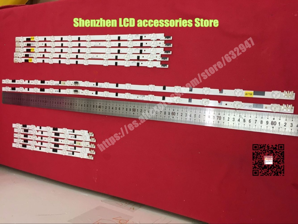 14Pieces(7R+7L) 40-inch  FOR  Samsung Lamp Bar 8LED+5 LED  2013SVS40F HF400BGLV1H UA40F6300AJXXR 100%NEW