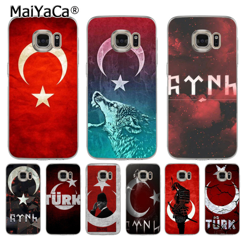 MaiYaCa Flag of Turkey Istanbul Antalya mustafa Coque Shell Phone Case for Samsung S5 S6 S7 Edge S8 Plus S6 Edge Plus S3 S4