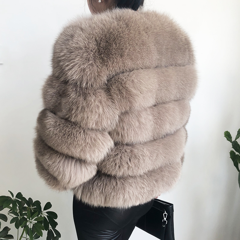 2019 new style real fur coat 100% natural fur jacket female winter warm leather fox fur coat high quality fur vest Free shipping 85