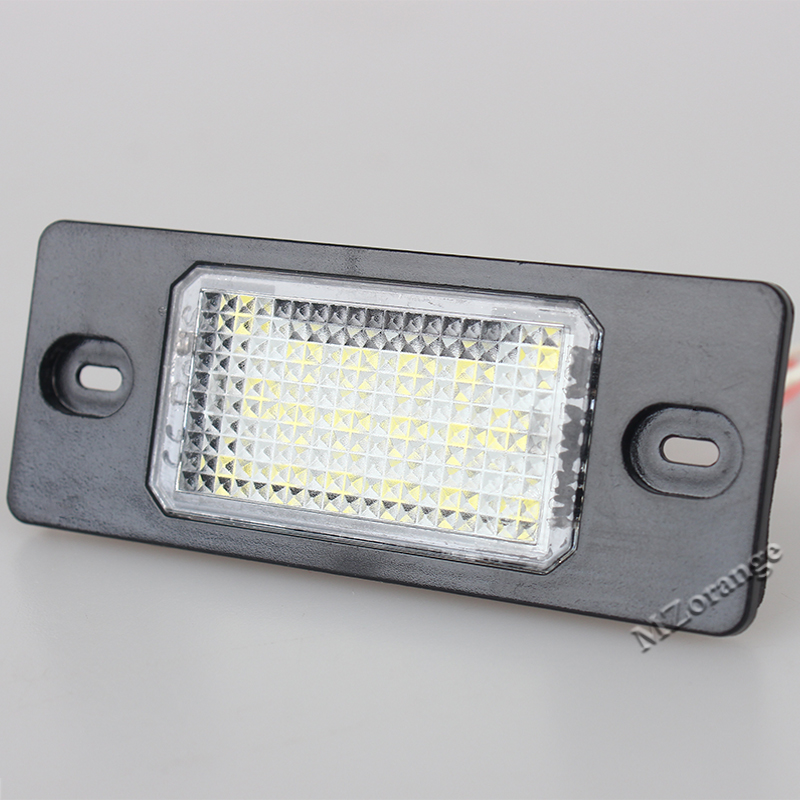 MZORANGE 1 Pair LED Car Number License Plate Lamps Lights for Porsche Cayenne for VW Touareg in Signal Lamp from Automobiles Motorcycles