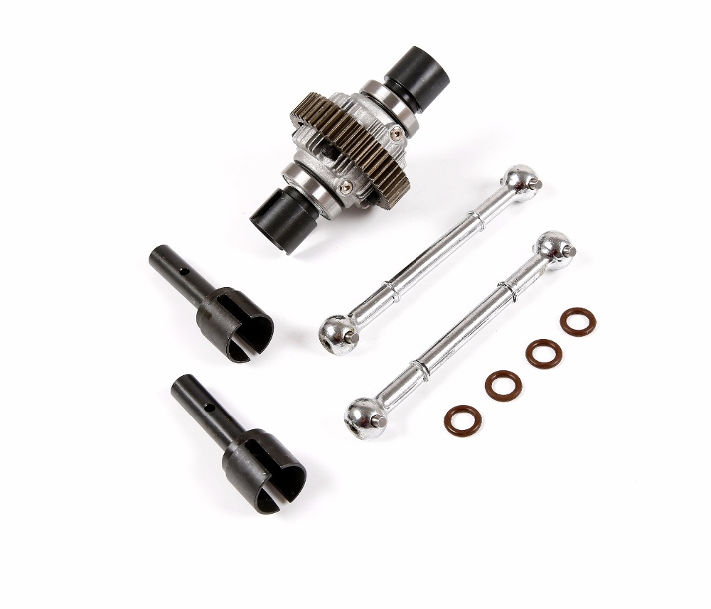 Metal Enhanced drive shaft & Dog bone kit with complete differential gear set for 1/5 hpi rovan km baja 5b 5sc 5t parts front gear box housing complete set drive