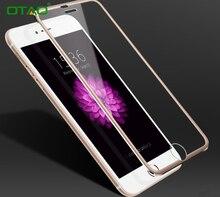 Для Apple iPhone 7 Plus Закаленное Стекло-Экран Протектор Полный крышка 3D Черные Края Серебра Розового Золота 9 H Закаленное Фильм Titanium
