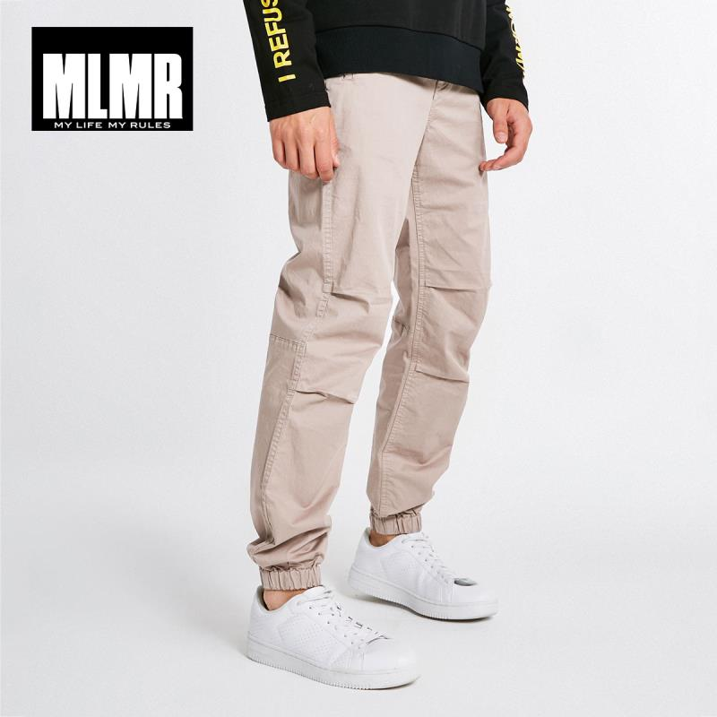 MLMR Men's Stretch Cotton Leisure Pants Jogger Cuff Menswear 218314586