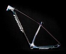 Poussée cadre de vélo en fibre de carbone 29 pouces et 27,5 pouces, 15 17 19 BSA BB30, cadre de vélo conique VTT, garantie 2 ans, 8 couleurs