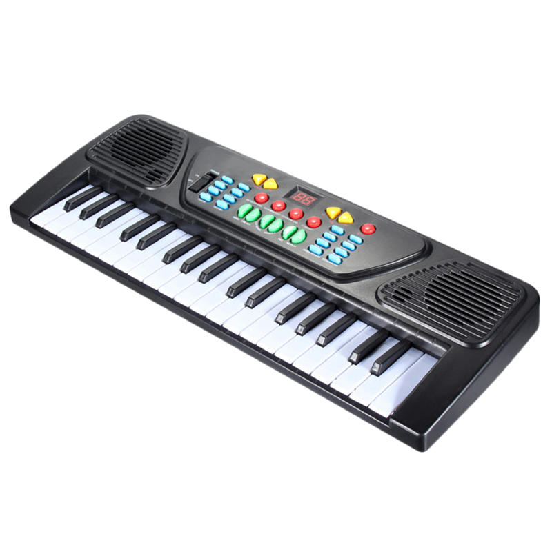 37 Keys Kid Organ Electric Piano Digital Music Electronic Keyboard Musical Instrument With Mini Microphone For Children