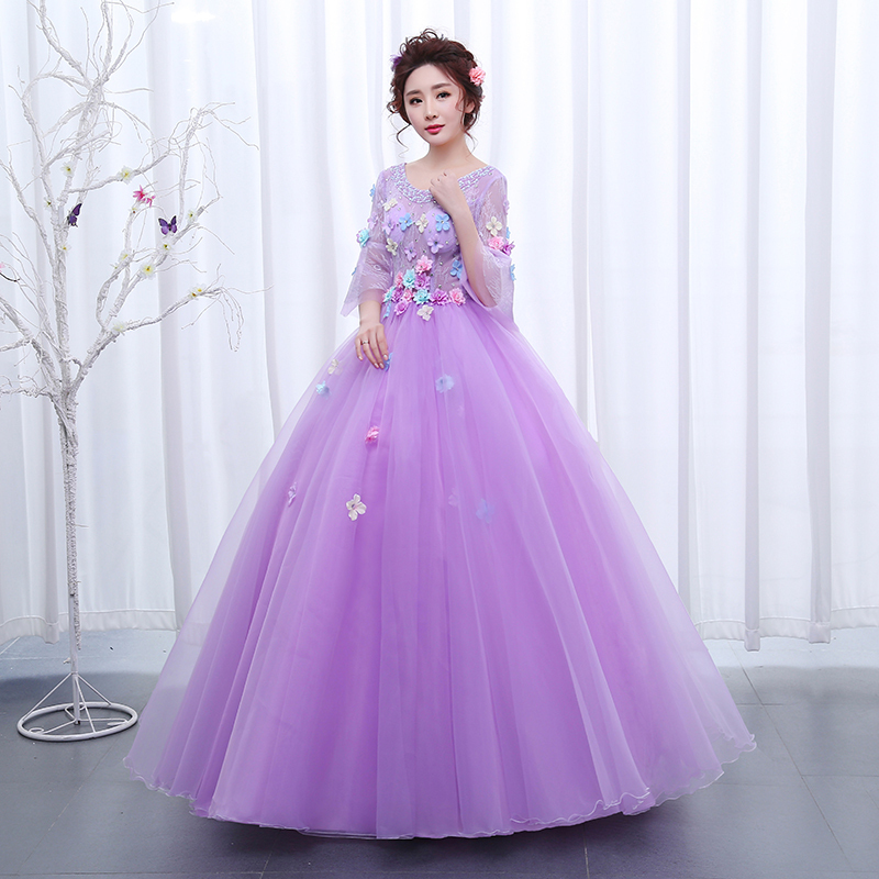 Purple Ball Gowns for Girls
