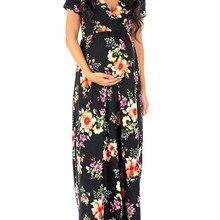 Poungdudu платье для беременных женщин популярное летнее сексуальное платье с круглым вырезом и короткими рукавами