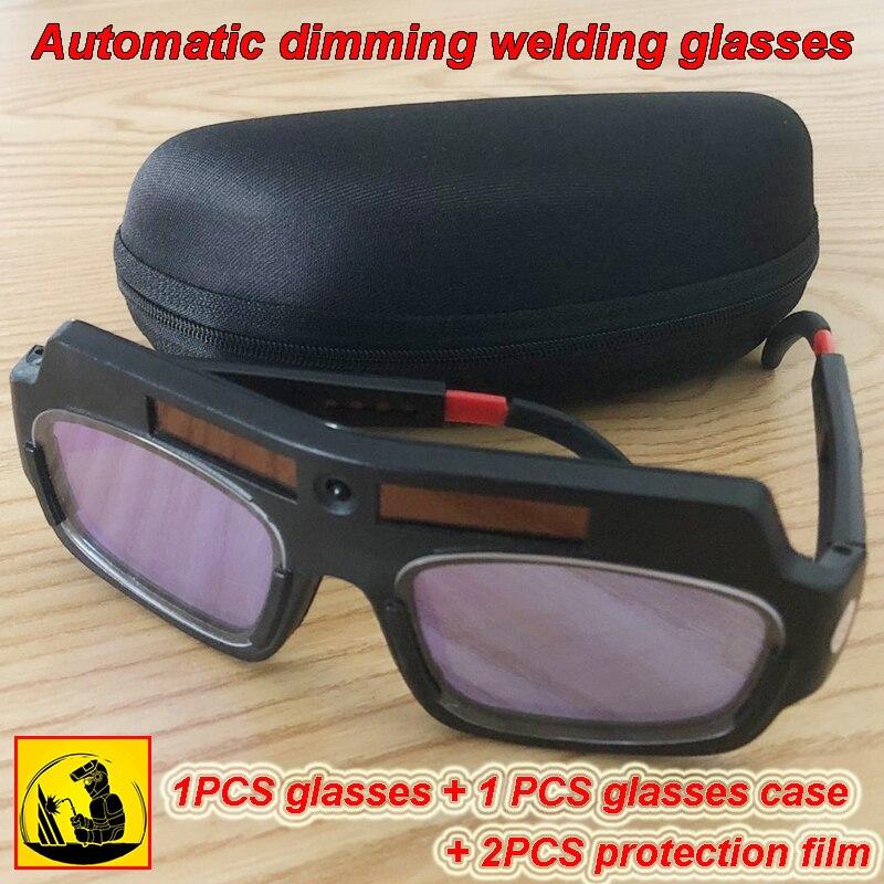 TX-012 Solar Energy Automatic Dimming Welding Glasses 1PCS Glasses + 1 PCS Glasses Case + 2PCS Protection Film