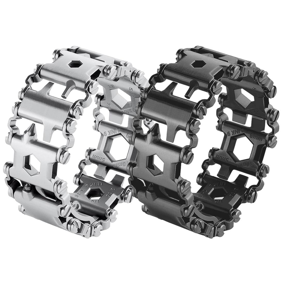 Tout nouveau Bracelet de bande de roulement portable multifonction 29 en 1 tournevis multifonction Kit d'urgence en plein air multi-outil