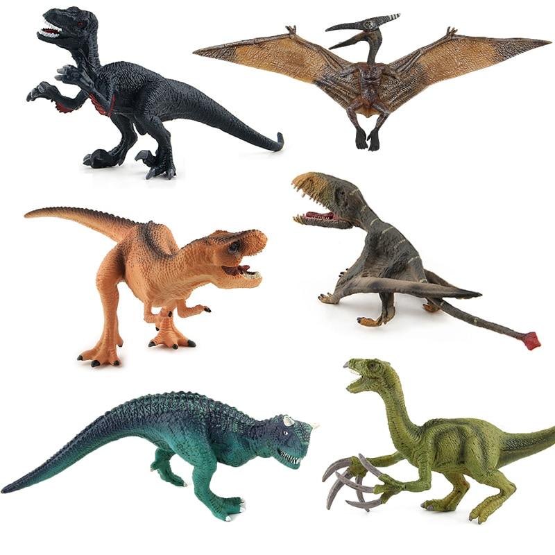 Jurassic World Park Dinosaurs Toys Animal Action Figures Tyrannosaurus Pterosaur Carnotaurus Therizinosaurus Dinosaur Model #H dinosaurs carnotaurus classic toys for boys children toy animal model