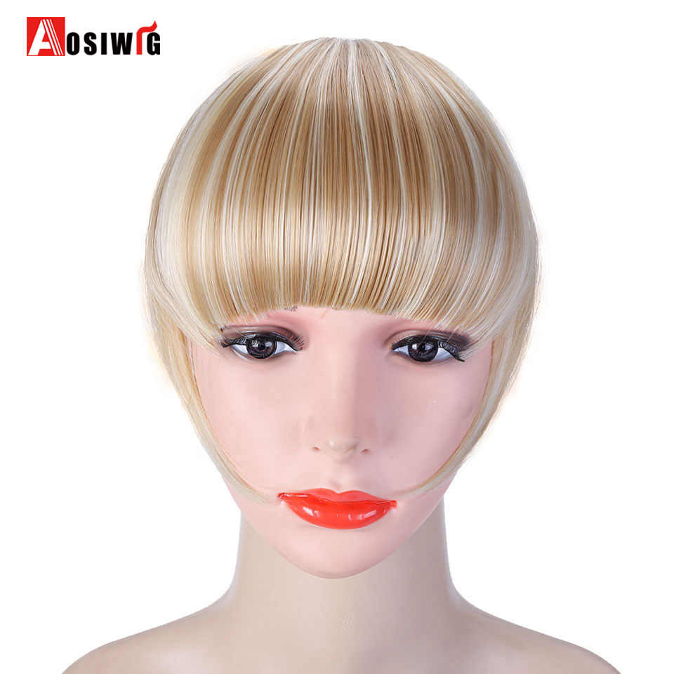 detail feedback questions about aosi wig black brown one piece clip