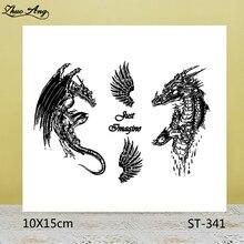 ZhuoAng Cursed dragon Transparent seal / sealed DIY scrapbook / album decoration card / seamless seal star cursed