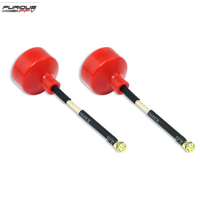 2 Pieces FuriousFPV 5.8G 2.2dBi BigMac Antenna U.FL RHCP Red for RC Drone Quadcopter Spare Part DIY Accessories