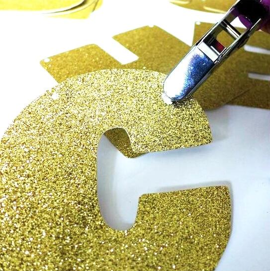 Алтын жарқыраған жарқыраған баннер - Мерекелік және кешкі заттар - фото 2