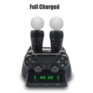 Image 4 - PS4 להעביר תנועה VR PSVR LED ג ויסטיק מטען Stand בקר טעינת Dock עבור PS VR מהלך PS 4 Dualshock 4 /דק/פרו Gamepad
