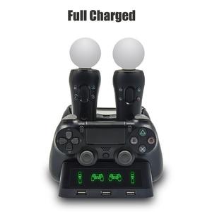 Image 4 - PS4 移動モーション VR PSVR LED 充電スタンドコントローラ充電ドック ps VR 移動 PS 4 デュアルショック 4 /スリム/プロゲームパッド